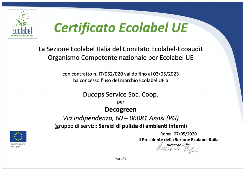 certificato_ecolabel